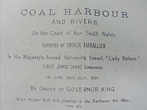 Barralier's Map of the Coal Harbour