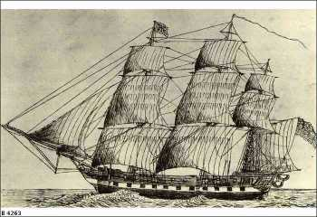 H.M.S. Buffalo c. 1836. State Library South Australia