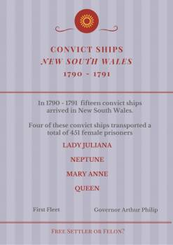 Female Convicts Ships to NSW 1790 - 1791