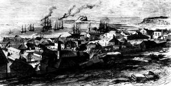 View of Newcastle - 1865 - Illustrated Sydney News 16 March 1865