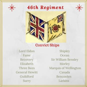 Convict Ships bringing detachments of the 46th regtiment to Australia