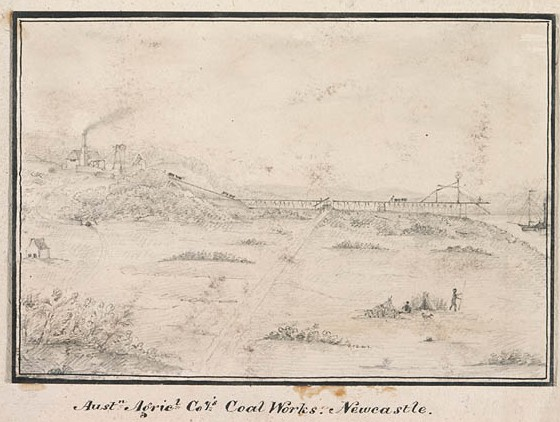 Australian Agricultural Company's Coal Works. Newcastle / [attributed to James Charles White]
