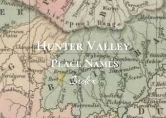 Hunter Valley Place Names