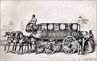 George Shillibeer's first London omnibus, 1829