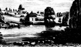Mill on the Allyn River by Elizabeth Boydell. Illustrated Sydney News 24 December 1870