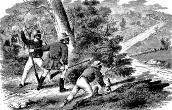 Bushrangers waiting for the Mail. Australian Town and Country Journal Sat 22 Nov 1873 Page 24