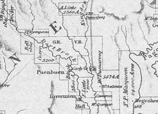 Map showing the location of Satur (W.B. Carlyle) 1837