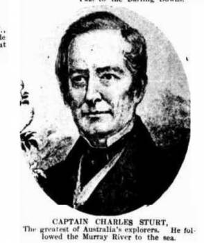 Charles Sturt of 39th regiment. Captain of the Guard on the Mariner in 1827