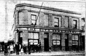 City Arms Hotel - Corner of Hunter and Market Streets, Newcastle. The Newcastle Sun 29 March 1950