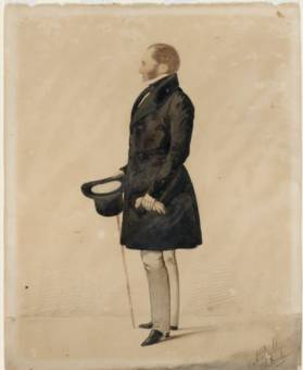 Edward Gostwyck Cory, ca. 1837-1842 / silhouette portrait by Richard Dighton - State Library of NSW