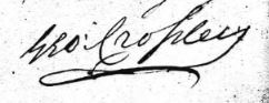 Signature of George Crossley