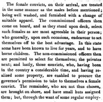 Female prisoners in 1802 -03 - Lieut. George Bond