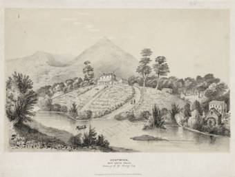 Gostwyck, New South Wales, estate of E.G. Cory Esq, between 1834-1851 / lithograph by George Rowe, Cheltenham, England. State Library NSW