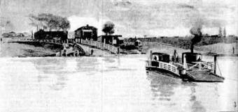 The Punt crossing the Hunter River Morpeth to Hinton. 1889
