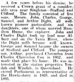 John Dight - Armidale Chronicle 21 July 1920