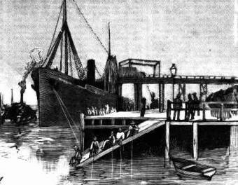 The steamship Westwater waiting to load at Stockton