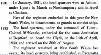 Military Guard on the Clyde in 1832 - Historical Records of British Army