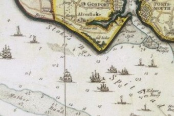 Map showing location of Portsmouth and Spithead