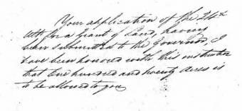Land Grant to Richard Hobden 2 June 1824. Colonial Secretary's Correspondence