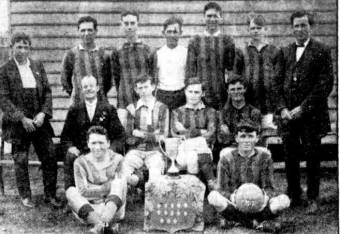 Rosebuds Football Team c. 1917 - The Sun 8 February 1950