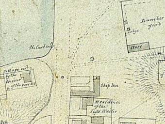 John Armstrong's Map of Newcastle c. 1831 showing the location of the Ship Inn - University of Newcastle