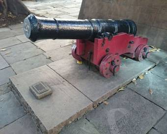 Six-pounder cannon thought to have belonged to the Sirius