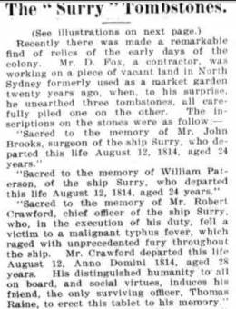 The Surry Tombstones 27 July 1895 - Australian Town and Country Journal