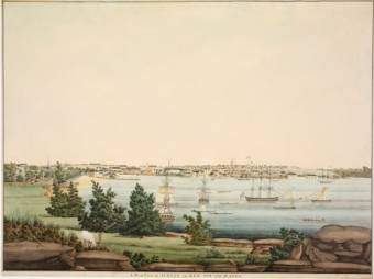 West view of Sydney in New South Wales, ca 1809] / drawn by John Eyre - State Library NSW