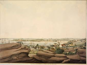 East view of Sydney in New South Wales, ca 1809] / drawn by John Eyre - State Library NSW