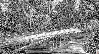 Bridge over the Williams at Thalaba - Australian Town and Country Journal 3 August 1872