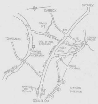 Towrang Stockade Map - Canberra Times 4 April 1895 - Goulburn and District Historical Society