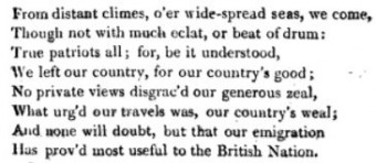 From the Prologue written for the Opening of the Playhouse at NSW 16 January 1796 - George Barrington's 'The History of NSW'