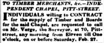 John Verge advertisement. The Australian 26 February 1830