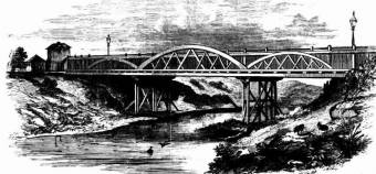 Victoria Bridge between East and West Maitland - Illustrated Sydney News (NSW : 1853 - 1872) Sat 3 Dec 1853 Page 1