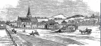 View of Muswellbrook -  Australian Town and Country Journal Sat 11 Nov 1871  Page 16