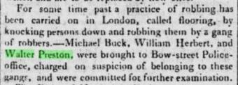 Walter Preston arrested in London in 1810