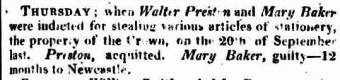 Walter Preston acquitted in 1819