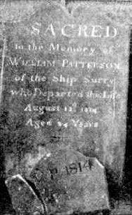 Tombstone of William Patterson died Sydney 1814