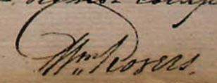 Signature of surgeon William Rogers in the Medical Journal for the voyage of the Arab