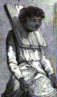 Image of Wooden Collar on a slave in Madagascar